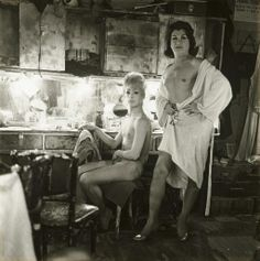 Diane Arbus, Two Female Impersonators at a Dressing Table, NYC, 1962. Great photographer. Her husband played Dr. Sidney Freidman on Mash.