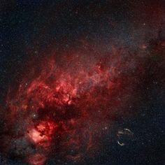 Constellation Cygnus with multiple nebulae visible Canvas Art - Rolf GeissingerStocktrek Images (28 x 28)