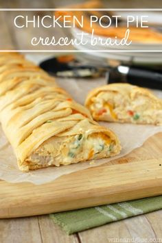 Chicken Pot Pie Crescent Braid - plus a collection of both sweet and savory recipes using Crescent Roll dough!
