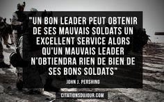 citation de John Pershing sur le leadership