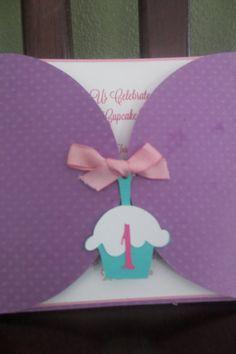 Cupcake Birthday Invitation by JJsPersonalTouch on Etsy