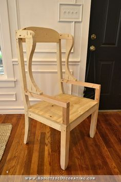 DIY wingback dining chair - how to build a frame for an upholstered chair - 19