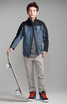 Tucker + Tate 'Wheeler' Thermal T-Shirt (Big Boys) Preteen Boys Fashion, Young Boys Fashion, Toddler Boy Fashion, Little Boy Fashion, Kids Fashion, Fashion Games, Men's Fashion, Big Boys, Cute Boys