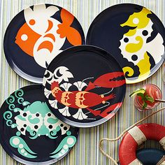 Amalfi Plate Collection - This collection is sure to be noticed. With their bold colors and eye-catching design, these wildly decorative plates add excitement to casual get-togethers and festive tablescapes. Inspired by the glamorous and alluring Amalfi Coast in Italy during the 1960's, this collection lends a sunny seaside escape to your home or your summer home away from home. Happy travels!