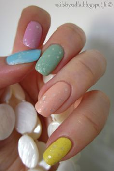 Pastel Easter nails, spring nails