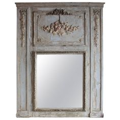 French 19th Century Trumeau Mirror in the Style of Louis XVI   From a unique collection of antique and modern trumeau mirrors at https://www.1stdibs.com/furniture/mirrors/trumeau-mirrors/