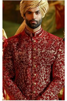 Wedding Kurta For Men, Wedding Dresses Men Indian, Wedding Outfits For Groom, Wedding Dress Men, Indian Weddings, Mens Sherwani, Sherwani Groom, Wedding Sherwani, Tuxedos