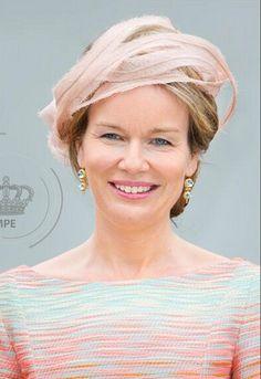 Queen Mathilde, July 10, 2014 in Fabienne Delvigne | Royal Hats
