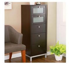 5 Drawer File Cabinet Home Office Multi Storage Work Filing Paper Organizer Wood