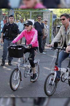 Italian Ride  Madonna goes for a bike ride in Florence on June 17.
