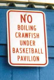 They have always been strict about what they allow under the basketball pavilion.