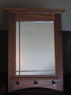 Ideas for bathroom wood style mirror Craftsman Mirrors, Craftsman Style Bathrooms, Craftsman Frames, Craftsman Decor, Coral Shower Curtains, Best Bathroom Colors, Mission Furniture, Arts And Crafts Furniture, Diy Bathroom Remodel