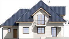 Elewacja ARD Kasztan 2 paliwo stałe CE Design Case, Window Design, Teds Woodworking, Dom, My House, House Plans, Floor Plans, Cabin, Mansions