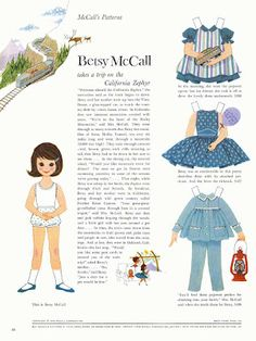Betsy McCall takes a trip on the California Zephyr, 1960