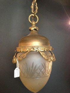 Antique Victorian hanging lamp pendant R by VintageLampsAndMore, €250.00