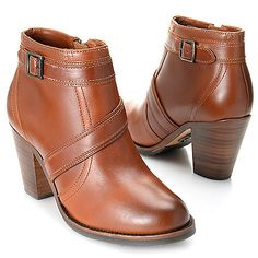 """724-740 - Ariat """"Ready to Go"""" Full Grain Leather Buckle Detailed Ankle Boots"""