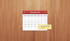 Calendar Widget #ui #freebie