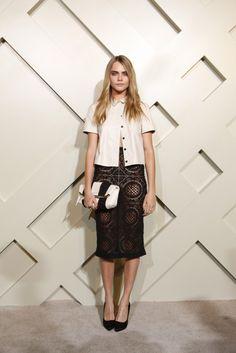 cara-delevingne-burberry-brings-london-to-shanghai-short-sleeve-leather-top-sheer-black-crochet-skirt-stripe-clutch