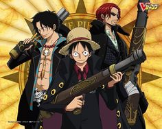 Ace,Luffy,and Shanks