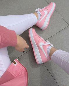 Real Pink Nike Af1 x Pink Bape Bomber
