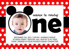 Mickey or Minnie Birthday Invitation
