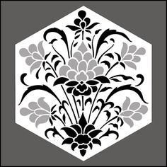 Hexagonal No 3 stencil
