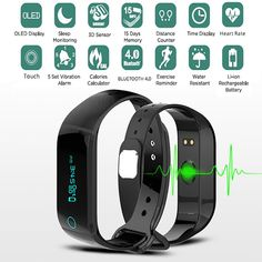 Fitness Bluetooth heart rate monitor Watch Sport Tracker  Wristband Exercise Reminder Waterproof  for Mobile phone