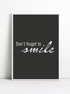 DONT FORGET TO SMILE (nr 52) od Simple-Design