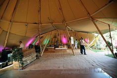 Two Giant Hat Tipis - Sami Tipi Wedding by Bill Haddon Photography -