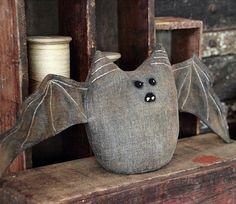 Primitive Halloween Bat Shelf Sitter by rockriverstitches on Etsy, $30.00