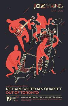 Jazz on the Wing bei Behance - illustration - Festival Jazz Art, Jazz Music, Rock Music, Festival Posters, Concert Posters, Musikfestival Poster, Plakat Design, Poster Design Inspiration, Poster Ideas