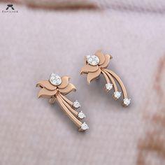 Diamond Solitaire Earrings H I – Modern Jewelry Diamond Earrings Indian, Diamond Solitaire Earrings, Diamond Studs, Modern Jewelry, Gold Jewelry, Jewellery, Ear Jewelry, Gold Earrings Designs, Small Earrings
