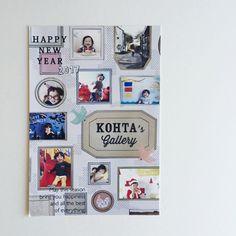Happy Family 年賀状コンテスト 受賞作品のご紹介! - こども誕生日撮影&部屋飾り付けグッズ おうち写真館なら グラこころ New Year 2017, New Year Card, Happy New Year, Photo Wall, Gallery Wall, Greeting Cards, Seasons, Frame, Design