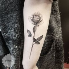 Rose tattoo by Goldy Z