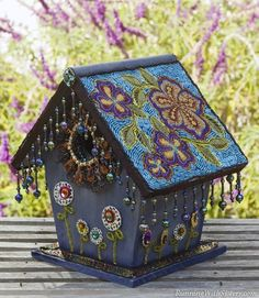 Who doesn't love the intricate detailing of a vintage beaded purse? Frankly, we can't get enough of the look, so we decided to indulge ourselves by beading a birdhouse we found at the flea market. ...