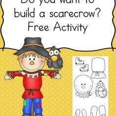 FREE Fall Scarecrow Building Set Printables