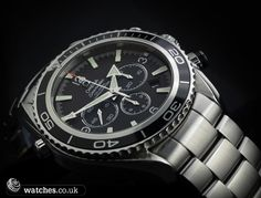Omega Planet Ocean Chronograph Ref - 2210.50.00. Big 45mm case & water resistant to 600m/2000ft. Heavy duty divers watch. December 2010 model. We buy and sell Omega watches. Contact Us - www.watches.co.uk