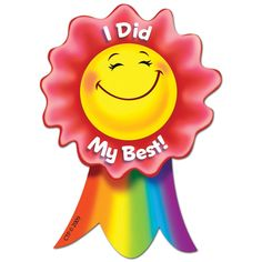 Creative Teaching Press I Did My Best Smiling Ribbon Rewards Reward Stickers, Teacher Stickers, Kids Stickers, School Magazine Ideas, Student Rewards, Student Data, Kids Awards, Happy Sunday Quotes, First Day Of School Activities