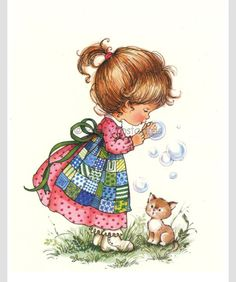 Vintage postcard of a little Girl blowing Bubbles - Sarah Kay style Vintage postcard from the Unsent Excellent vintage condition Sarah Key, Vintage Cards, Vintage Postcards, Mary May, Blowing Bubbles, Picture Postcards, Holly Hobbie, Vintage Children, Cute Drawings