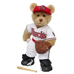 Curly Teddy in Arizona Diamondbacks™ Uniform - Build-A-Bear Workshop US $39.50