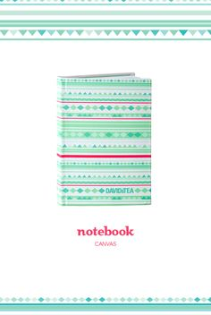 Need a place to write down your to-do lists? This pretty printed canvas notebook will help you keep track of it all. It's small and compact, so it'll easily fit inside a purse, schoolbag or the glove compartment of your car.