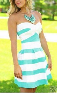 17. #Bright Dress - 24 #Beautiful Dresses for #Graduation Season ... → #Fashion #Season