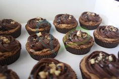"Exotic Center Filled Cupcakes- ""Mr. Brownie"""