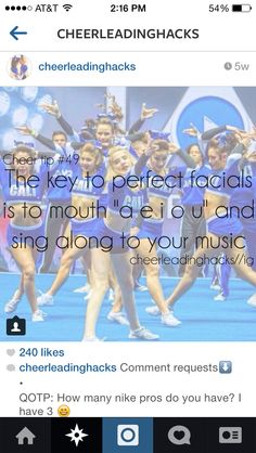 Cheer hacks  Or just say your words and move your mouth weird ;)