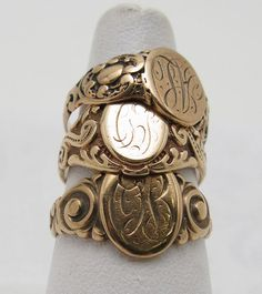 signet rings - which are Neva Eva to be worn on any finger other than the ring finger. ESPECIALLY not the pinkie! oh my, no!