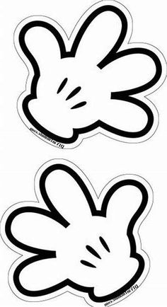 Mickey Mouse Birthday Decorations, Mickey Mouse Crafts, Mickey Mouse Parties, Mickey Birthday, Mickey Party, Mickey Mouse Stencil, Mickey Mouse Template, Mickey And Minnie Kissing, Baby Mickey Mouse