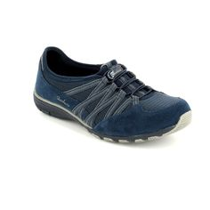 Get your ladies skechers trainers online now at Begg Shoes and Bags. Navy casual skechers: www.beggshoes.com