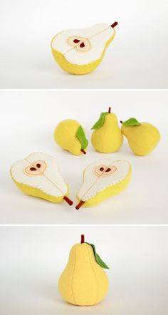 Felt play food Pear yellow by MyFruit I suggest you to buy realistic stuffed…