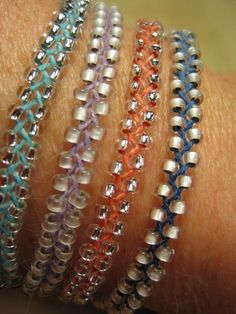 Braided, Beaded Bracelets