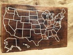 What a fun way to track our adventures!! Travel Map by HiddenCabin on Etsy